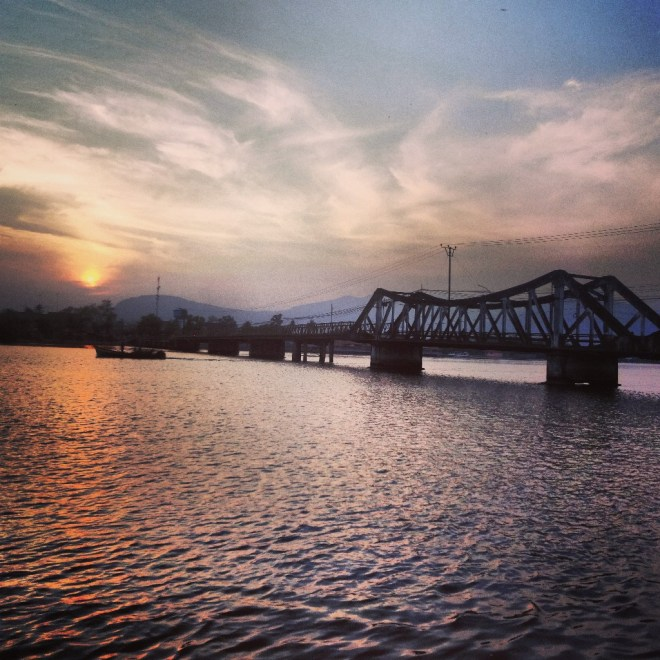 The bridge in Kampot