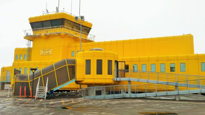 Iqaluit airport a.k.a. yellow submarine underwater base thing
