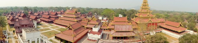 Panoramic of Mandalay Palace