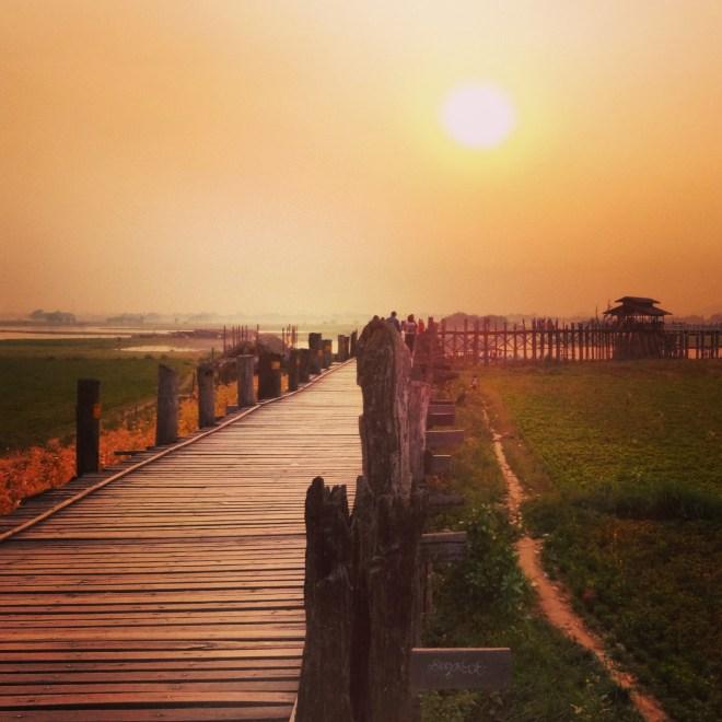 U-Bein Bridge at sunset