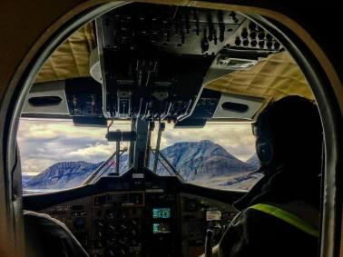 Flying into Axel Heiberg
