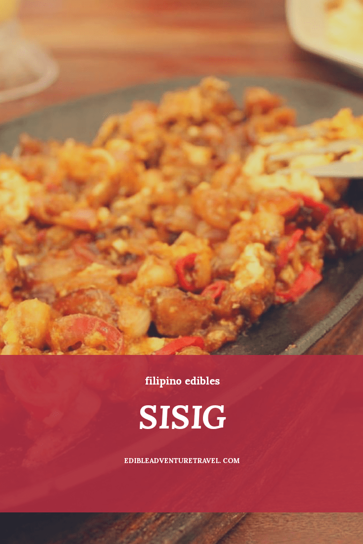 Sisig... probably one of my favourites in the Philippines