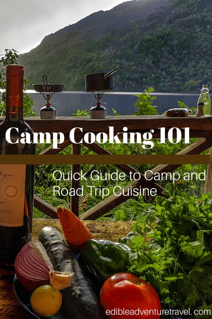 Camp Cooking 101 | A guide to cooking a simple, but quality meal for yourself while on a road/camping trip. Recipes, gear lists, ingredient lists included.