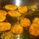 Chips frying in duck fat