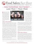 Ractopamine Factsheet