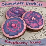 Chocolate Cookies with Raspberry Icing
