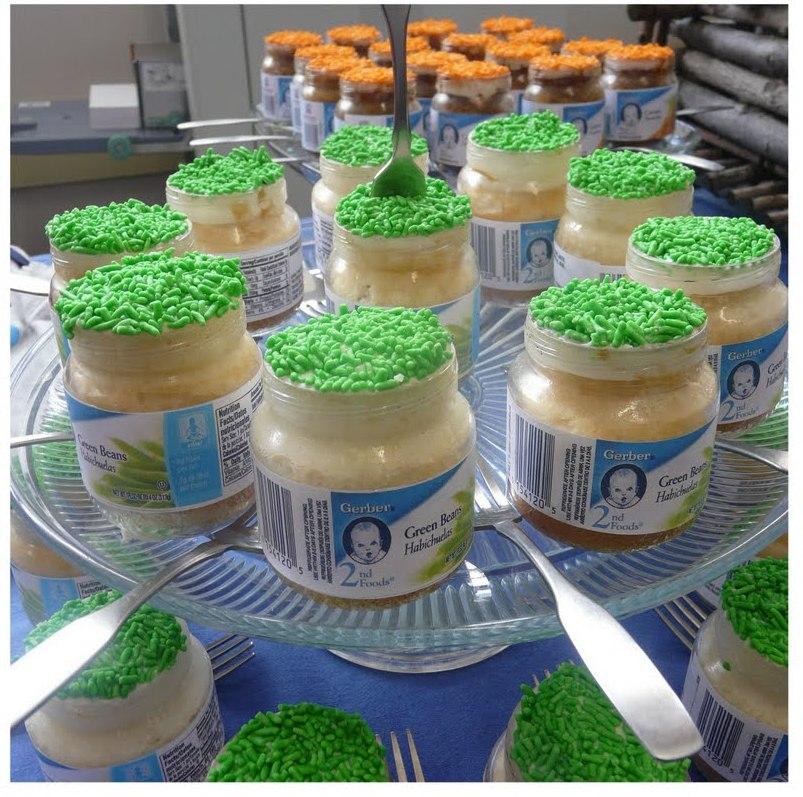 Baby jar cupcakes edible crafts for Baby food jar crafts pinterest