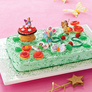Easy Fairy Garden Cake - Edible Crafts
