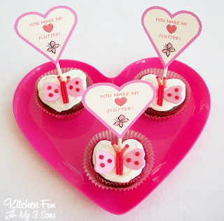 valentines butterfly cupcake