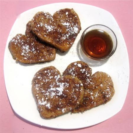 french toast heart