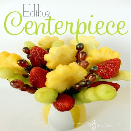 edible fruit centerpiece titled