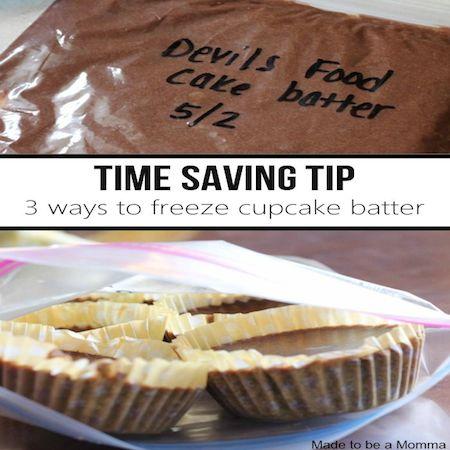 3 ways to freeze cupcake batter