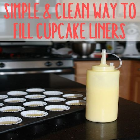 simple way to fill cupcake liners