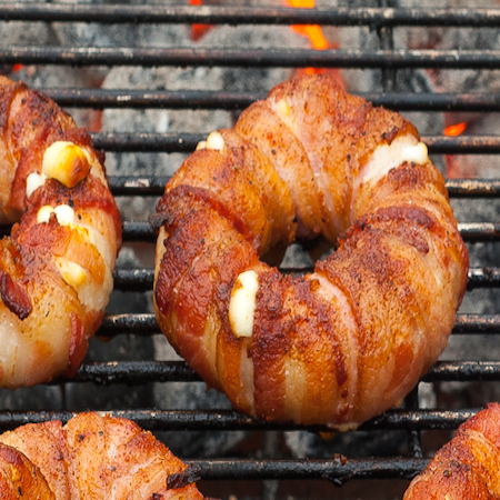 Bacon wrapped pineapple mozzeralla ring