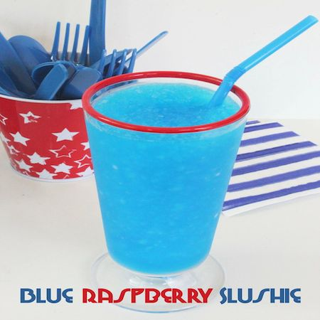 blue raspberry slushie