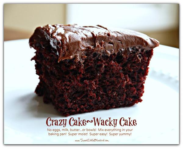 Crazy Cake Wacky Cake recipe