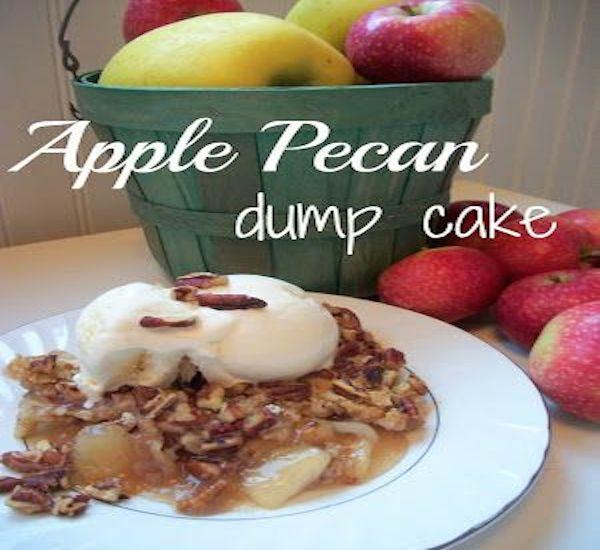 Apple Pecan Dump Cake