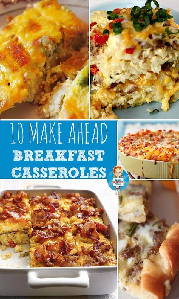 10 make ahead breakfast casseroles