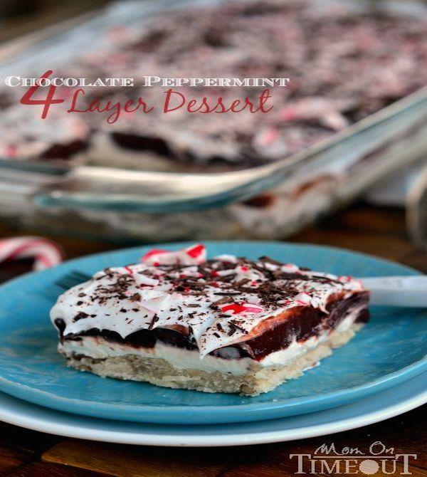 Chocolate Peppermint Four Layer Dessert