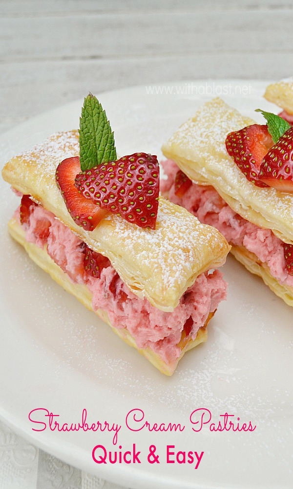 Strawberry Cream Pastries-P