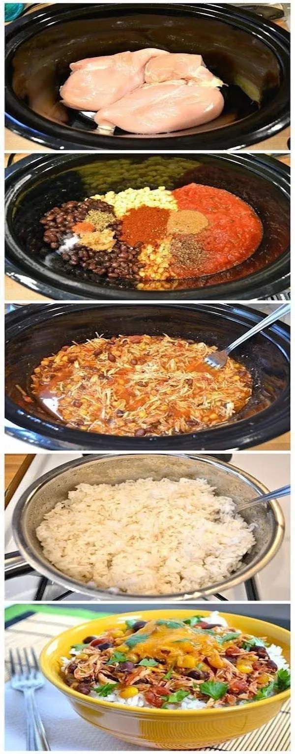 crockpot chicken taco bowl