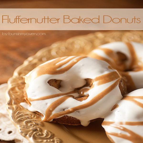 fluffernutter baked donuts