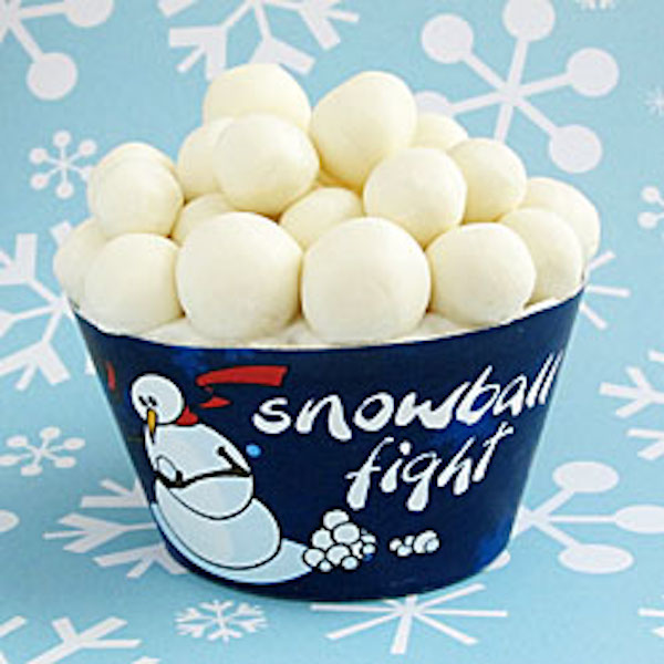 snowball fight cupcakes