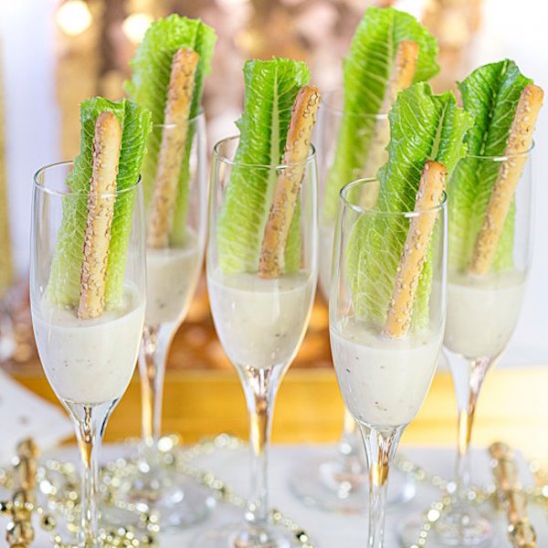 New Year's Eve Champagne salad
