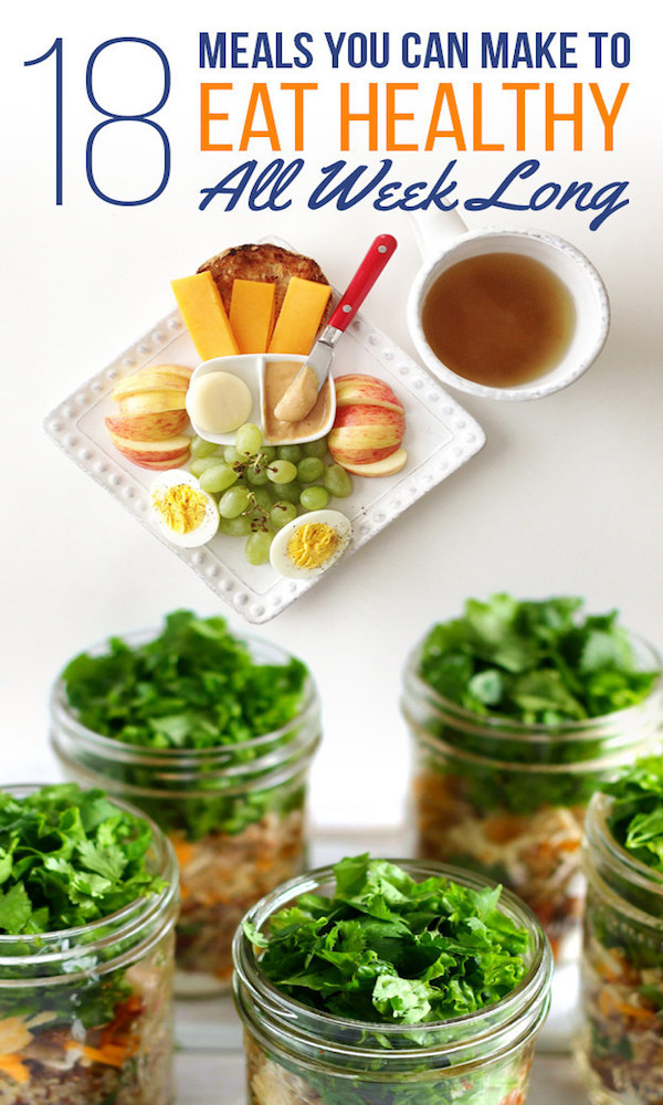 18  meals to make ahead to eat healthy all week