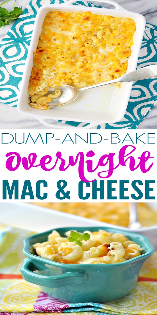 Dump And Bake Overnight Mac And Cheese Edible Crafts