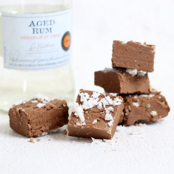 rum fudge shots