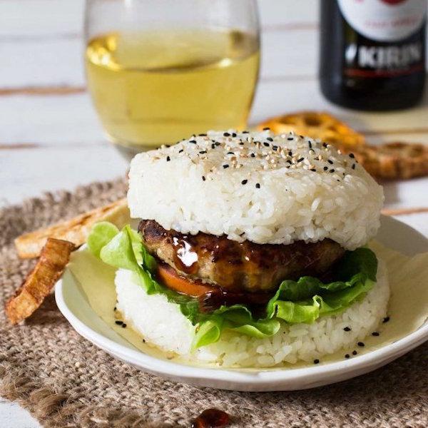terriyaki rice burger