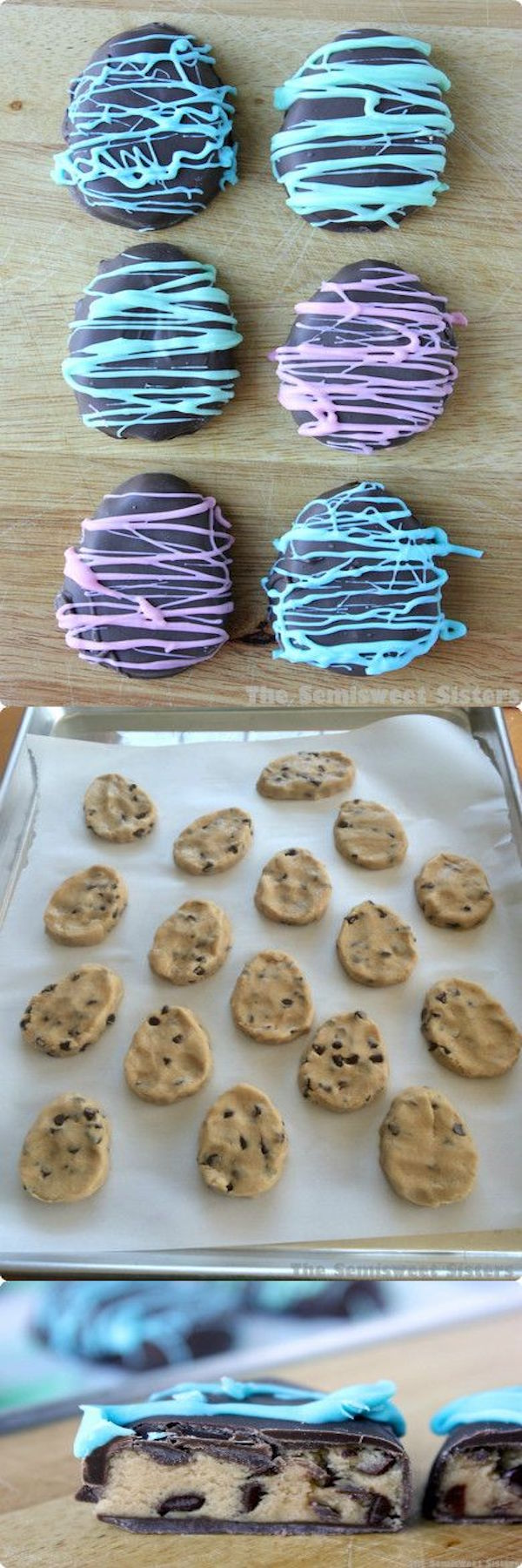 chocolate chip cookie dough eggs