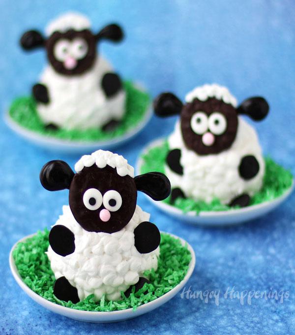 Fluffy Sheep Cupcakes