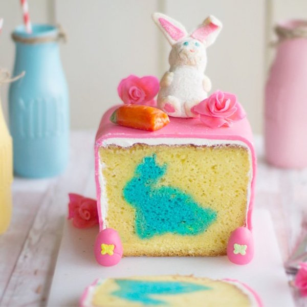 surprise easter bunny cake