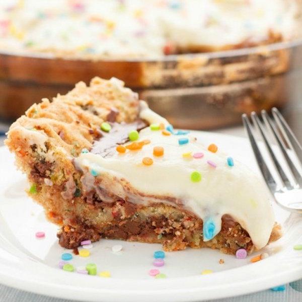Birthday Cake Cookie And Pudding Pie