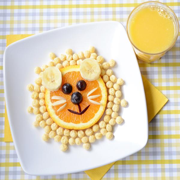 Kix lion head breakfast