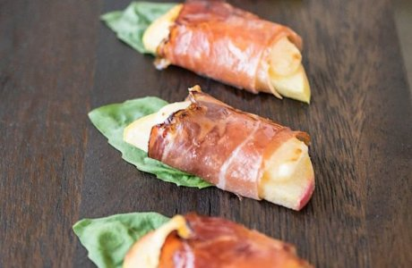 Smoked Prosciutto Wrapped Apple Bites