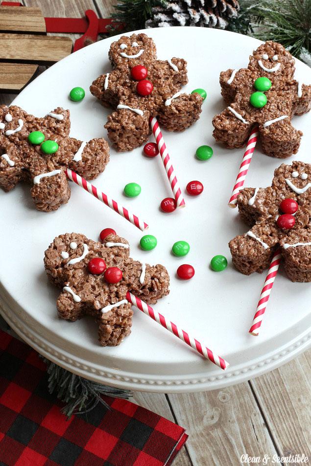 Christmas Recipes Gingerbread Men Rice Krispies Edible