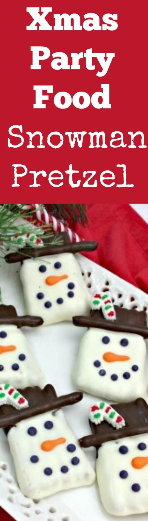 Easy snowman pretzels edible crafts for Easy christmas food crafts