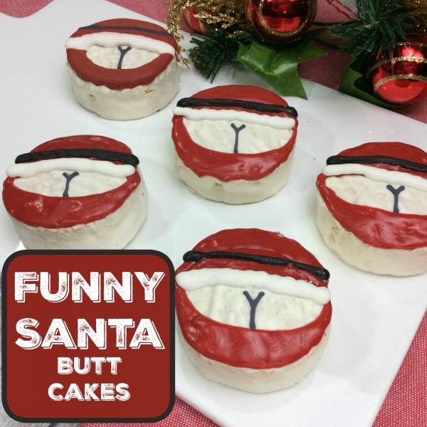 Naughty Santa Butt Cupcakes