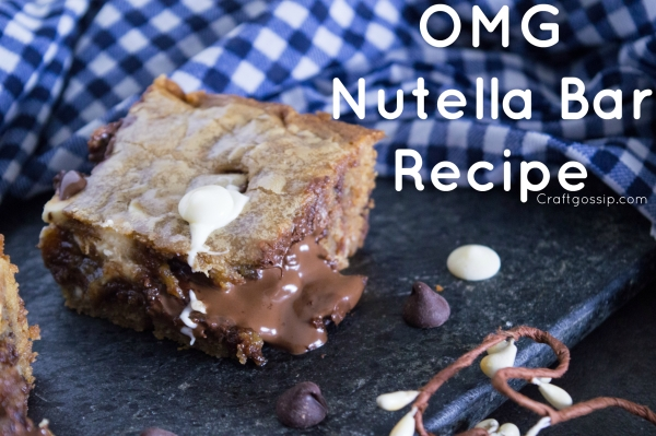 Stuffed Nutella Bars