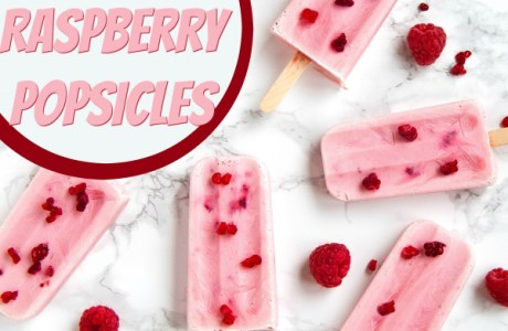 DIY 2 Ingredient Raspberry Popsicles