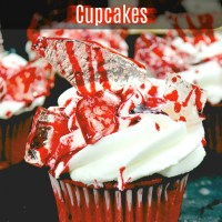 DIY Bloody Halloween Cupcakes