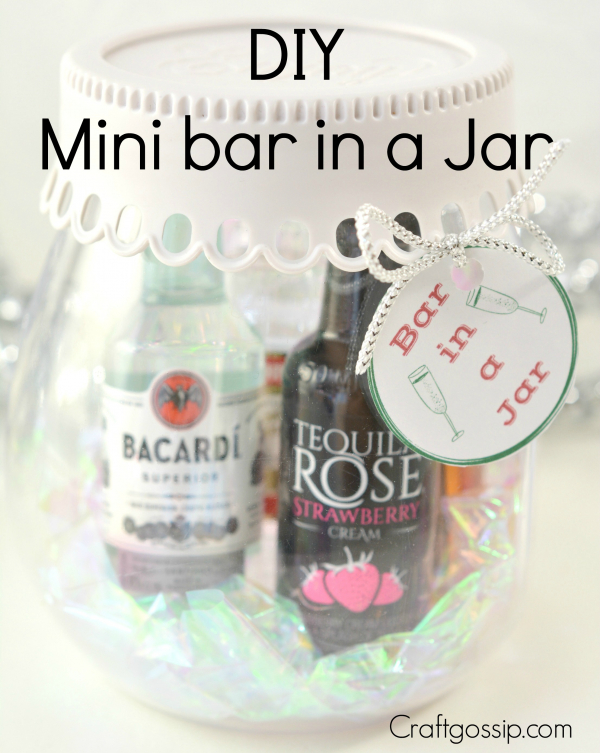 Diy Mini Bar Mason Jar Gift Edible Crafts