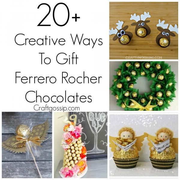 Christmas Knitting Patterns For Ferrero Rocher.Diy Ferrero Rocher Gift Ideas Edible Crafts