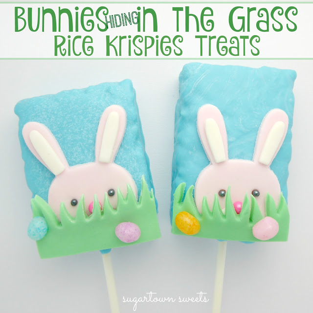 Bunnies Hiding in the Grass Rice Krispies Treats