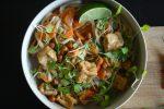 peanut tofu noodles vegan recipe