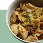 vegan ragu recipe with mushrooms and pappardelle pasta