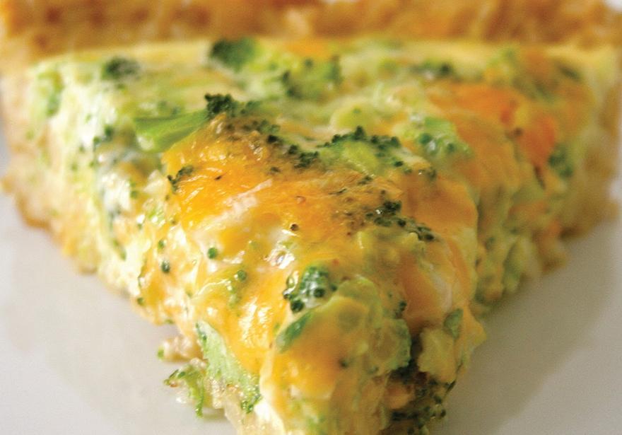Broccoli Cheesy Cannabis Quiche